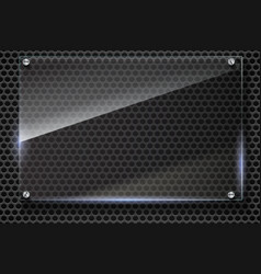 Elegant metallic mesh background with glass vector image
