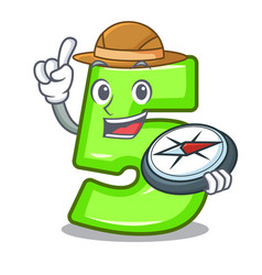 Explorer number five isolated on mascot vector