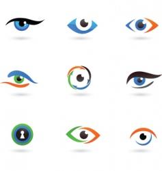Eye logos vector