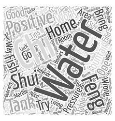 Feng Shui Home Tips Word Cloud Concept vector
