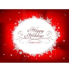 Festive Christmas frame vector