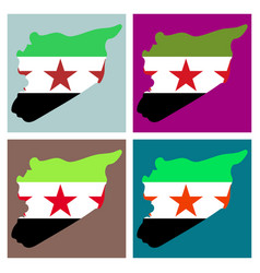 Flag map of syria vector