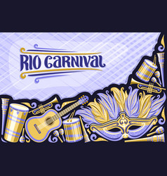 greeting card for rio carnival vector image