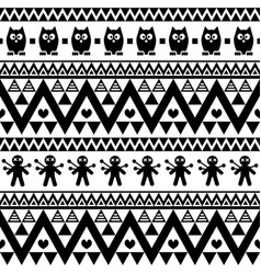 halloween cute seamless pattern with bats vector image
