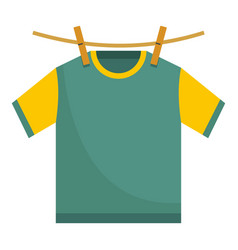 Hanging t shirt icon flat style vector