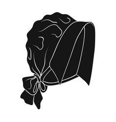 Headpiece single icon in black styleheadpiece vector