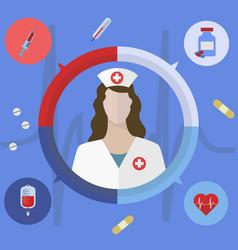 healthcare and medical concept nurse vector image