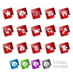 Hosting Stickers vector image