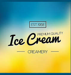 Ice cream and frozen yogurt logo vector