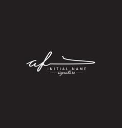 Initial letter af logo - handwritten signature vector