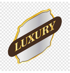 Label quality luxury isometric icon vector