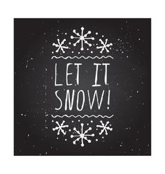 Let it snow - typographic element vector