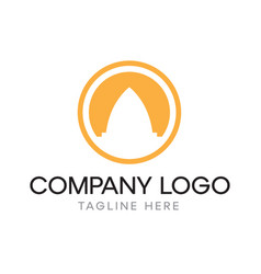 Logo design with abstract temple icon vector