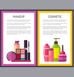 makeup and cosmetic posters vector image