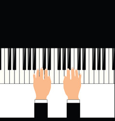 man hand on piano vector image