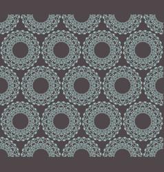 Mandala geometric on gray background vector