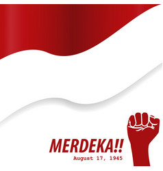 Merdeka 17 agustus indonesia independence day vector