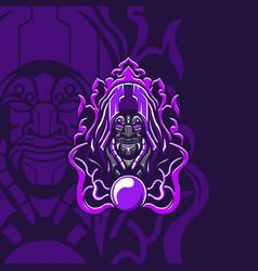 mighty wizard mascot vector image