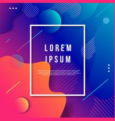 modern art deco background template vector image
