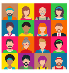 People avatar icons vector