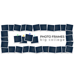 photo frames composition template vector image