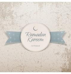 Ramadan Kareem Eid Mubarak festive Label vector