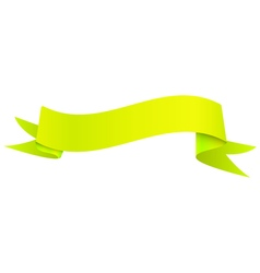 Realistic shiny yellow ribbon isolated on white vector