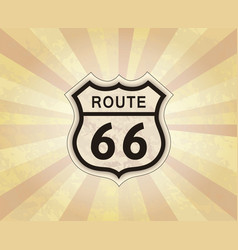 route 66 sign american road icon travel usa retro vector image