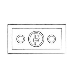 Ruble money russian banknote cash symbol vector