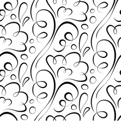 seamless background Backdrop black floral pattern vector image