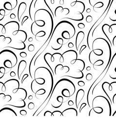 Seamless background Backdrop black floral pattern vector