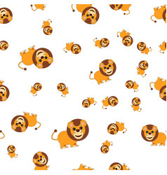 seamless pattern from lion vector image