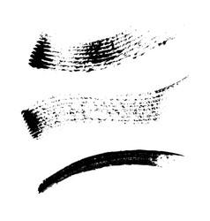 set 3 artistic mascara black strokes vector image