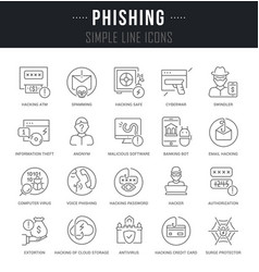 Set line icons phishing vector