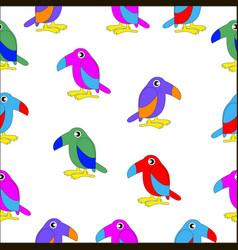 set of cartoon colorful birds vector image