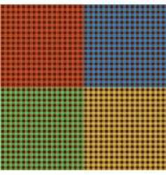 Set of checkered textures vector image