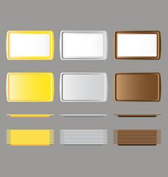 Set of rectangular salve vector