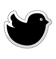 social bird isolated icon vector image