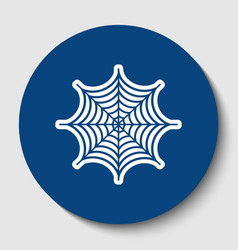 spider on web white contour vector image