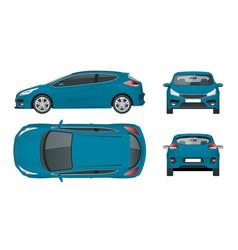 Sportcar or hatchback vehicle suv car set vector