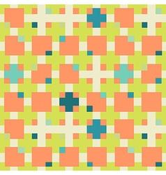 Square seamless geometric pattern vector image