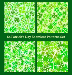 St patricks day seamless pattern set traditional vector