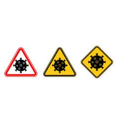 Stop coronavirus neon symbols covid-19 virus vector