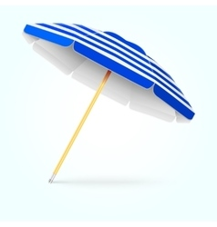 Summer beach umbrella parasol Sun protection vector