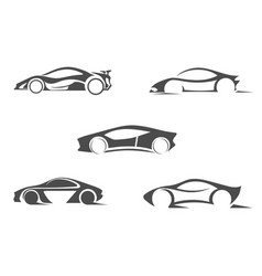 Super car silhouette logo template icon vector