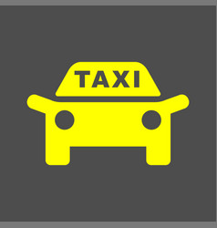 Taxi icon taxi sign silhouette vector