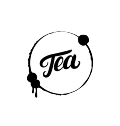 Tea hand written lettering logo label badge emblem vector
