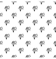 Three flowers pattern simple style vector image