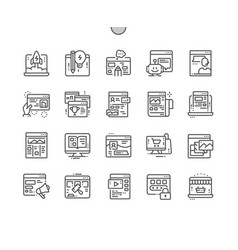 Types of sites well-crafted pixel perfect vector