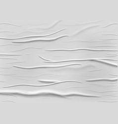 White paper ripped torn crumpled poster surface vector